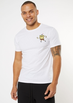 white dancing spongebob embroidered tee - Main Image