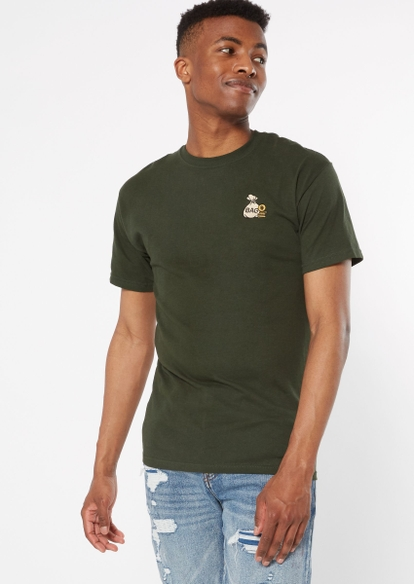 forest green money bag embroidered tee - Main Image