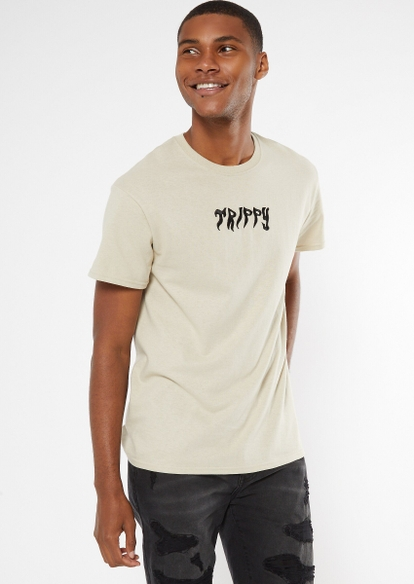 sand trippy embroidered tee - Main Image