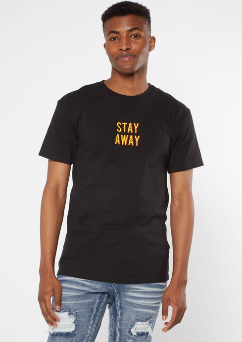 STAY AWAY STACK EMB TEE placeholder image