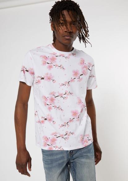 white cherry blossom allover print tee - Main Image