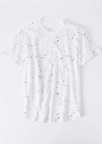 white paint splattered short sleeve tee - Main Image