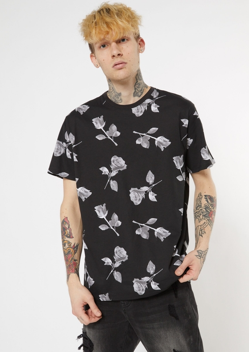 ALL OVER BW ROSE PRNT TEE placeholder image