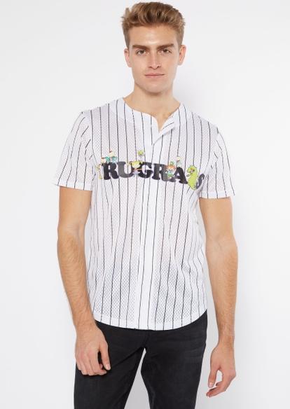 white pinstriped rugrats short sleeve jersey - Main Image