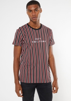 black striped good vibrations embroidered tee - Main Image