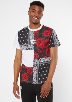 bandana patchwork rebel youth embroidered tee - Main Image