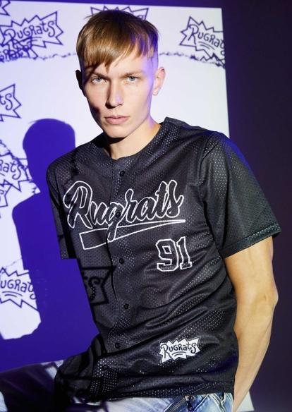 black mesh rugrats baseball jersey - Main Image