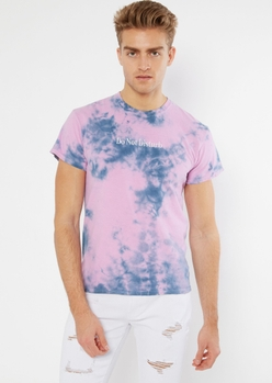 pink tie dye do not disturb embroidered tee - Main Image