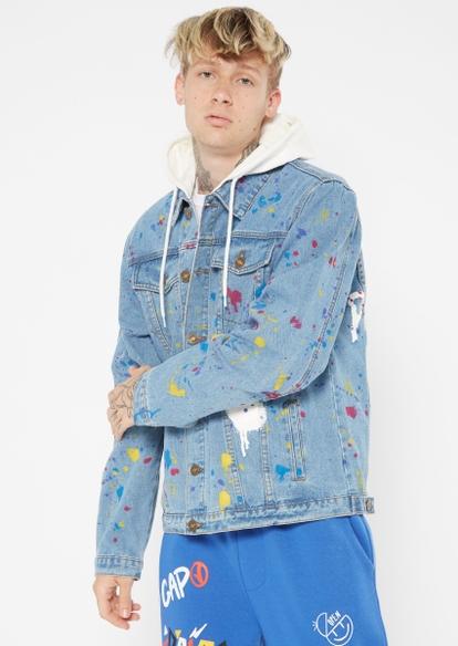 light wash empty promises jean jacket - Main Image