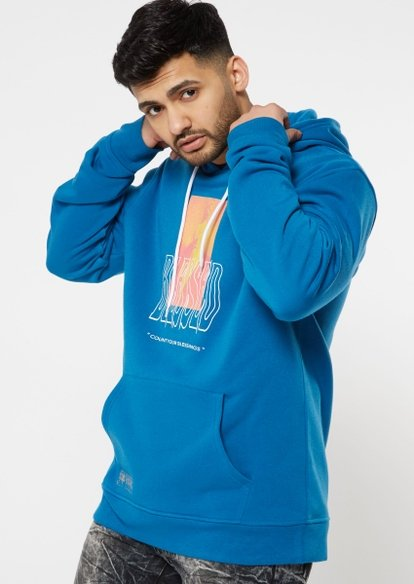 blue stay blessed graphic hoodie - Main Image