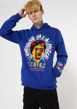 royal blue everyone has a price hoodie - Main Image