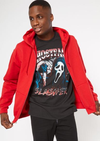 red zip up hoodie - Main Image