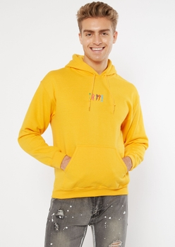 yellow trippy embroidered hoodie - Main Image