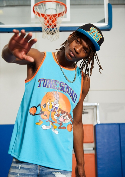 teal bugs bunny classic tune squad jersey tank - Main Image