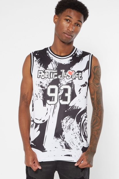 white poetic justice jersey tank - Main Image