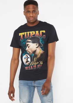 black keep ya head up tupac graphic tee - Main Image