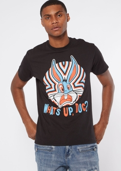 black what's up doc graphic tee - Main Image