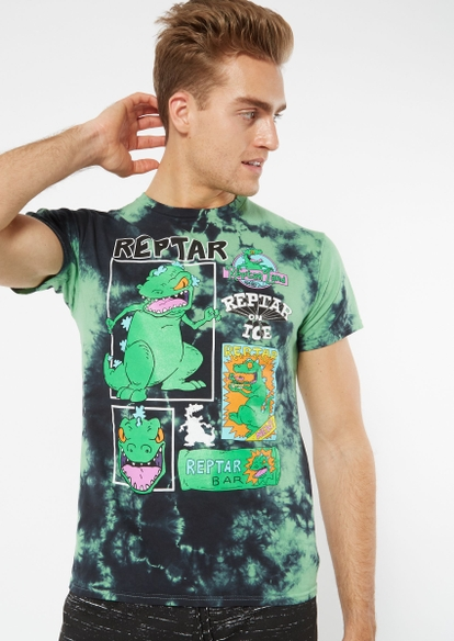 green tie dye reptar graphic tee - Main Image