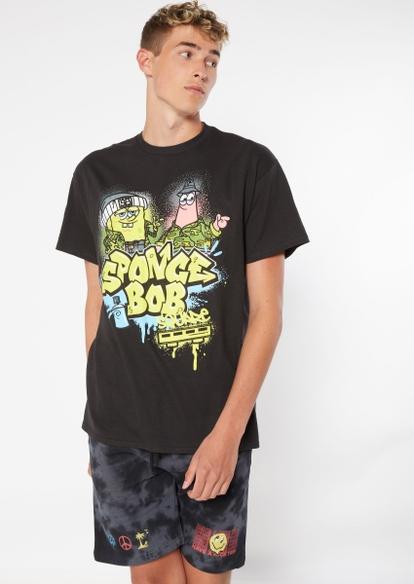 black spongebob graffiti graphic tee - Main Image