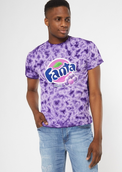 purple tie dye fanta graphic tee - Main Image