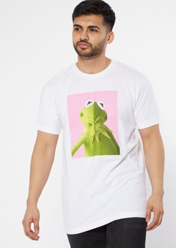 white kermit the frog portrait graphic tee - Main Image
