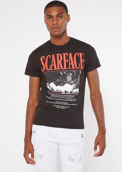 black short sleeve scarface graphic tee - Main Image