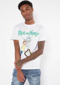 white rick and morty graphic tee - Main Image