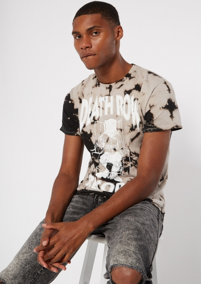 black bleached death row graphic tee - Main Image