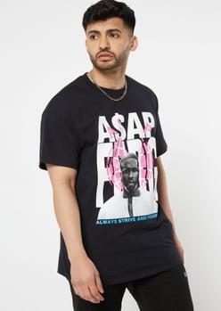 black a$ap ferg graphic tee - Main Image