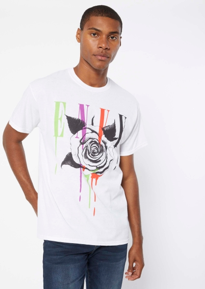 white rose envy graphic tee - Main Image