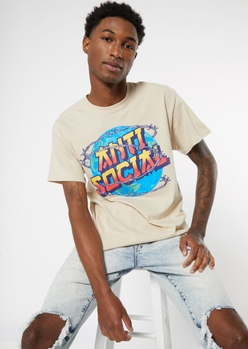 sand anti social barbed wire graphic tee - Main Image