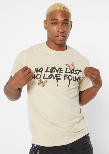 sand no love lost butterfly graphic tee - Main Image
