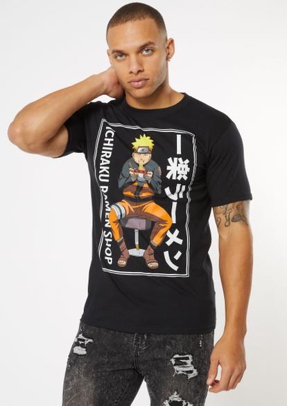 black naruto ramen kanji graphic tee - Main Image