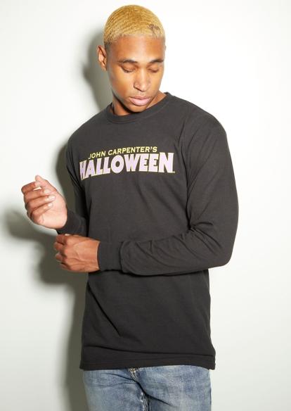 michael meyers halloween long sleeve graphic tee - Main Image