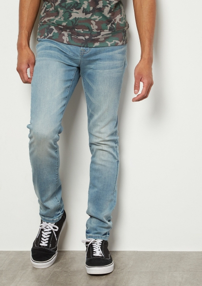 flex light wash super skinny jeans - Main Image