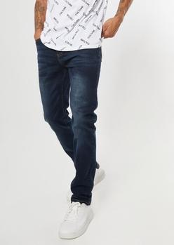 ultra flex dark wash skinny jeans - Main Image