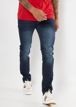 ultra flex dark wash super skinny jeans - Main Image