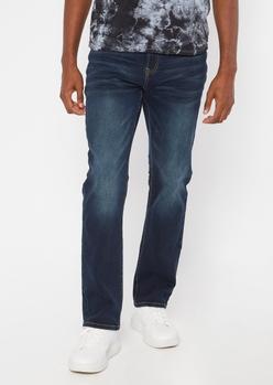 ultra flex dark wash boot cut jeans - Main Image