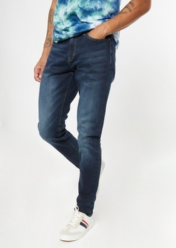 dark wash slim taper jeans - Main Image