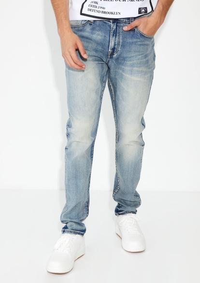 light wash slim taper jeans - Main Image