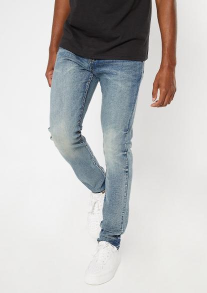 ultra flex medium wash skinny jeans - Main Image