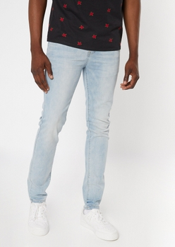 ultra flex light wash super skinny jeans - Main Image