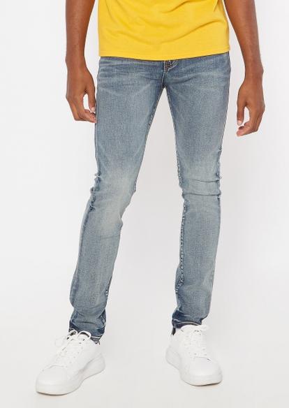 ultra flex medium wash super skinny jeans - Main Image
