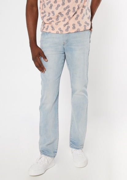 ultra flex light wash straight jeans - Main Image