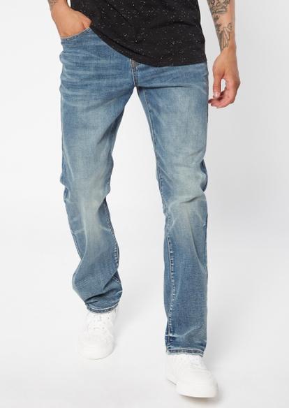 ultra flex medium wash straight leg jeans - Main Image