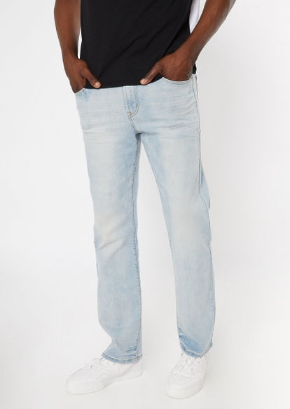 ultra flex light wash bootcut jeans - Main Image