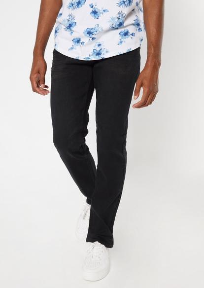 ultra flex black straight jeans - Main Image