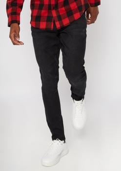 black slim taper jeans - Main Image