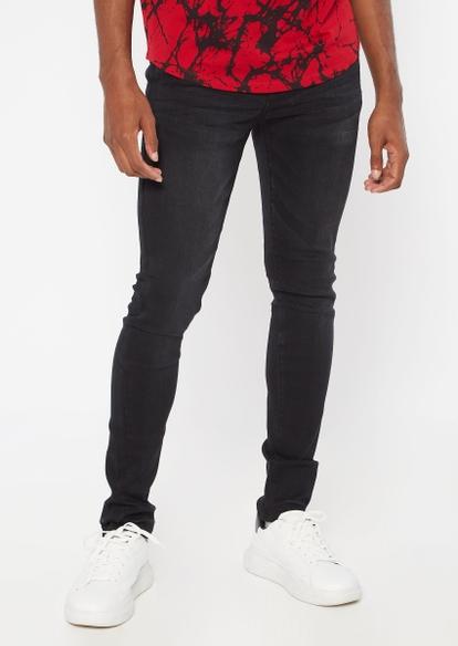 ultra flex black super skinny jeans - Main Image