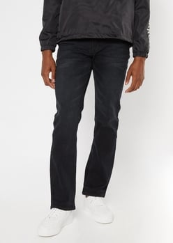 ultra flex black boot cut jeans - Main Image